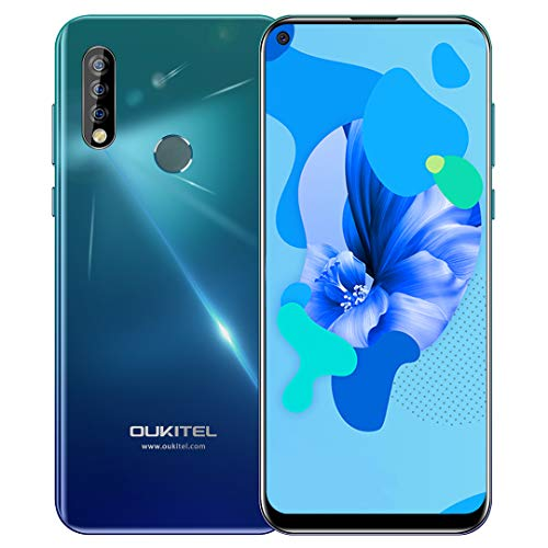 Unlocked Smartphone OUKITEL C17 Pro with Triple Camera, 6.35 Inch HD+ Full Screen, 64GB + 4GB RAM, Global 4G LTE Cell Phones, Dual SIM, Android 9.0 Mobile Phone, Face ID, Type-C