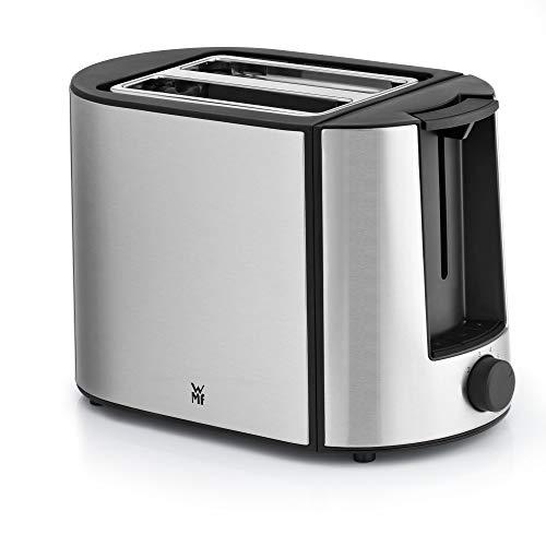 WMF Bueno Pro Toaster Edelstahl, Doppelschlitz Toaster mit Brötchenaufsatz, 2 Scheiben, 6 Bräunungsstufen, 870 W, edelstahl matt
