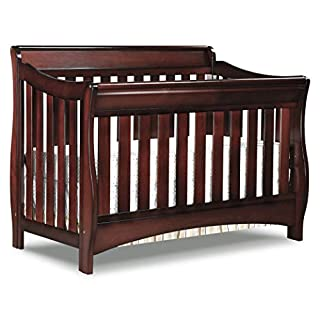 CONVERTIBLE CRIB: Converts from a crib to a toddler bed, daybed and full size bed with headboard & footboard (Daybed Rail included; Toddler Guardrail #0080 and Full Size Bed Rails #0050 sold separately) GROWS WITH BABY: The 3 position mattress height...