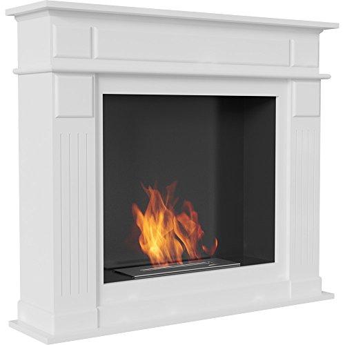 Water-Jacket Fireplace Insert Biokamin Ethanol Fireplace Decorative Table Fireplace November White