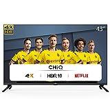 CHiQ U43H7L UHD 4K Smart TV, 43 Pouces(108cm), HDR10/hlg, WiFi,...
