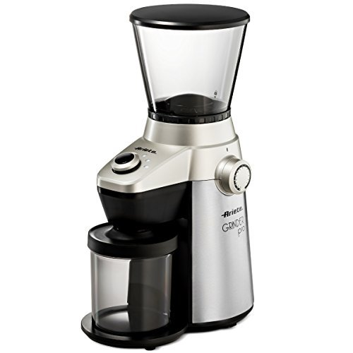 Ariete Conical Burr Electric Coffee Grinder - Professional Heavy Duty Stainless Steel | Ultra Fine Grind with Adjustable Cup Size | 15 Fine - Coarse Grind Size Settings 2