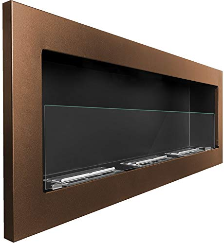 Bio Ethanol Fireplace Modern 1200 x 400 brown