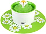 PEDY Fontaine à Fleur pour Chat 1,6 L, Distributeur de Nourriture Eau avecTapis...
