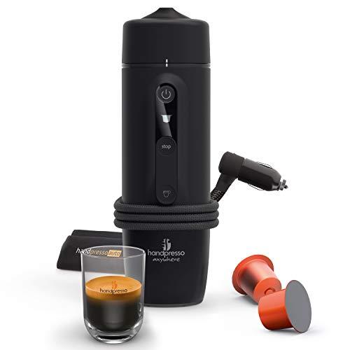 Auto Capsule 21020 HANDPRESSO, Handpresso, Macchina Espresso Portatile a Capsula Nespresso Compatibile per Auto 12V/24V