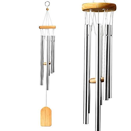 Nuosen - Scacciaspiriti, campanello musicale, in legno, da appendere, per esterni, giardino e arredamento casalingo, idea regalo