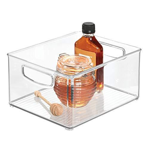 iDesign Organizer cucina, Porta oggetti cucina grande e profondo, Pratica scatola plastica aperta...