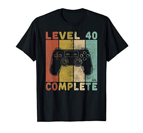 Hombre Camiseta Gamer 40 Cumpleaños Regalo Para Hombres 40