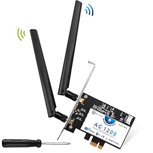 Hommie WIFI ワイヤレス アダプター 無線LAN 変換ボード ネットワークカード PCI-Express用