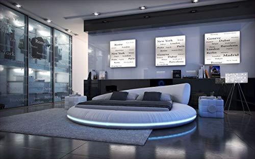 Sofa Dreams Design Rundbett Mezzo mit LED Beleuchtung 180 x 200 cm - 200 x 220 cm