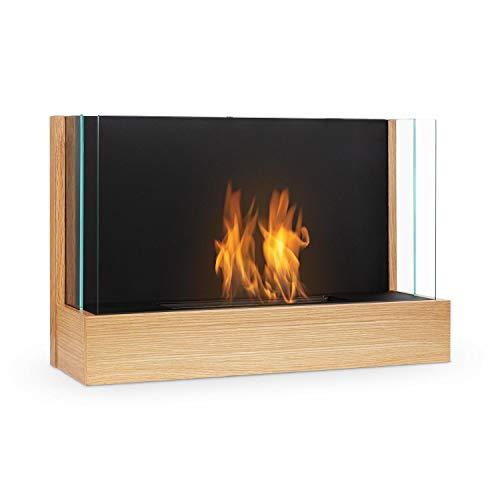 Klarstein Phantasma Assemble Ethanol Fireplace - Smokeless & Odourless, Stainless Steel Bio-Ethanol Burner, Heating Power: Approx. 3.6 kW, 0.8 l Tank, Approx. 2 Hours Burn Time, Extinguishing Aid