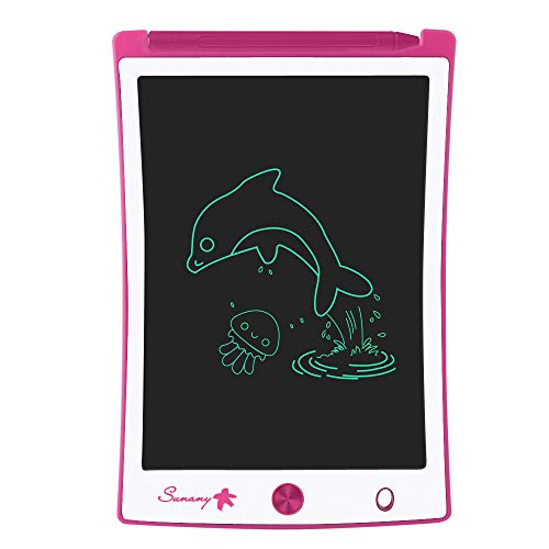 LCD Writing Tablet, 8.5 Inch Drawing Tablet Kids Tablets Doodle Board, Drawing Board Gifts for Kids and Adults at Home, School and Office (Pink)