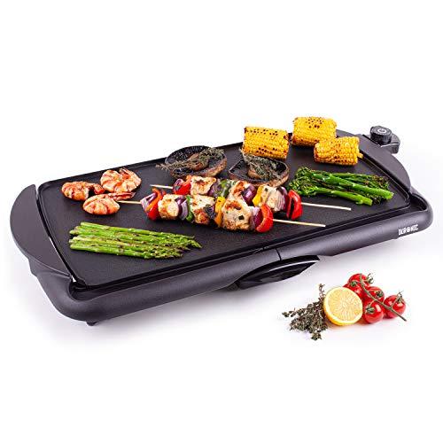 Duronic GP20 Piastra elettrica da tavolo anti aderente 2000W Piastra per teppanyaki superficie grill...