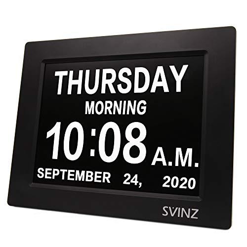 SVINZ Newest 5 Alarms Dementia Clock, Day Clock w/ Snooze...