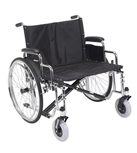 Drive Medical Sentra EC Heavy Duty Extra Wide Wheelchair with Various Arm Styles Arms