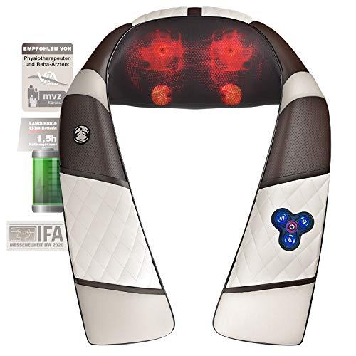 Novit Fiera 3in1 Massaggiatore con batteria per la schiena, spalla e collo, Shiatsu 4D con...