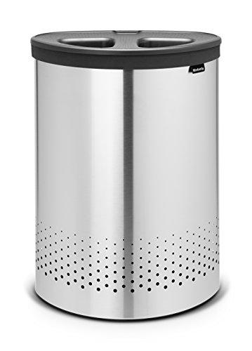 Brabantia 105029 Wäschebox Selector, Kunststoffdeckel, 55 L, dunkelgrau
