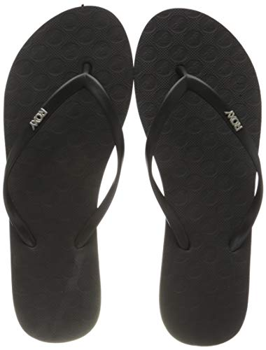 Roxy Viva, Chanclas Mujer, Black Smooth, 38 EU