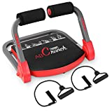femor Core & Abs Exercise Trainer, Total Body Muscle Crunch Training Machine, Home Gym Fitness Equipment for Strength Training with Resistance Bands & Workout Guide