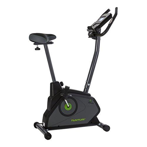 Tunturi Cardio Fit E30 Ergometer heimtrainer fahrrad / Fitnessfahrrad / Fahrradergometer / Hometrainer fahrrad trainer mit Handpulssensoren -Tablethalterung - Magnetbremssystem - LCD-Bildschirmanzeig