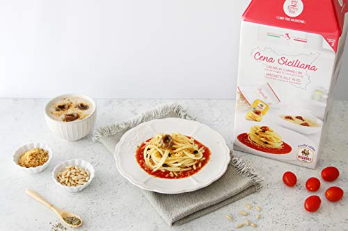 CENA SICILIANA My Cooking Box x2 Porzioni - Per una serata tra amici, una cena romantica o come idea regalo originale. Stupisci i tuoi cari per Natale!