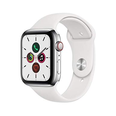 Apple-Watch-Series-5-GPS-Cellular-44mm--Stainless-Steel-Case-with-White-Sport-Band