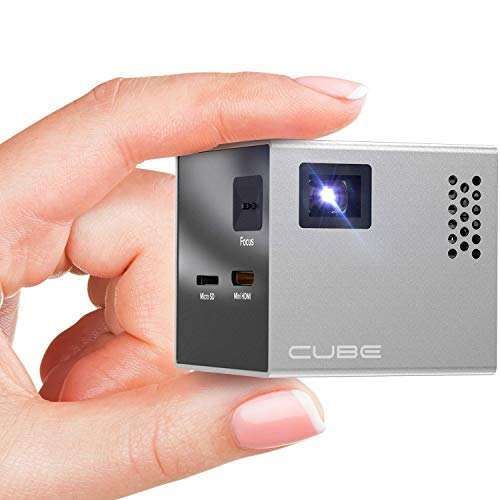 RIF6 CUBE Mini Projector - 2 inch Portable Handheld...