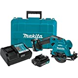 Makita SH02R1 12V Max CXT Lithium-Ion Cordless Circular Saw Kit, 3-3/8'