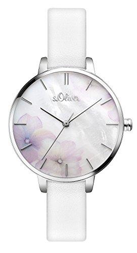 s.Oliver Damen Analog Quarz Armbanduhr SO-3522-LQ
