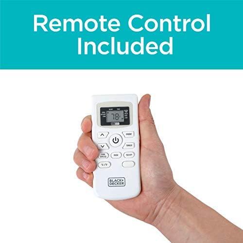 BLACK+DECKER BPACT14WT Portable Air Conditioner with Remote Control, 7,700 BTU DOE (14,000 BTU ASHRAE), Cools Up to 350 Square Feet, White 14
