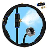 lifeegrn Misting Cooling System, Outdoor Misting System for Patio, 40 FT Misting Line+10 Mist Nozzles+3/4' Brass Adapter,Outdoor Mister System for Patio Garden Trampoline Greenhouse