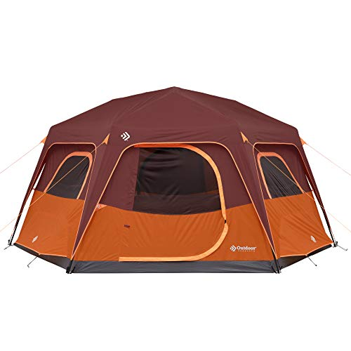 Outdoor Products 8 Person Instant Hexagon Tent with Built-in Lights