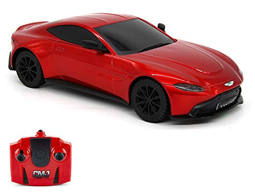 CMJ RC Cars™ Aston Martin Vantage Officially Licensed Remote Control Car. 1:24 Scale Red