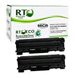 Renewable Toner Compatible MICR Toner Cartridge Replacement Canon 126 3483B001 for imageCLASS LBP6200d LBP6230dw (2-Pack)