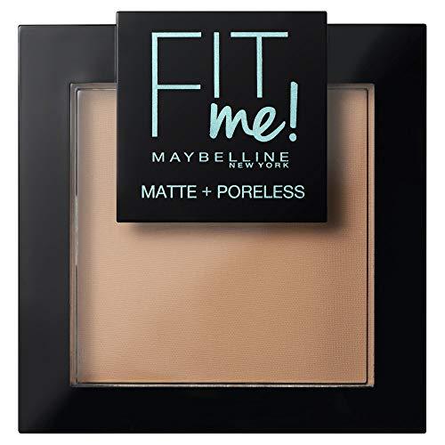 Maybelline New York Fit Me - Polvos Compactos Matificantes y Sin Brillos, Tono 250 Sun...