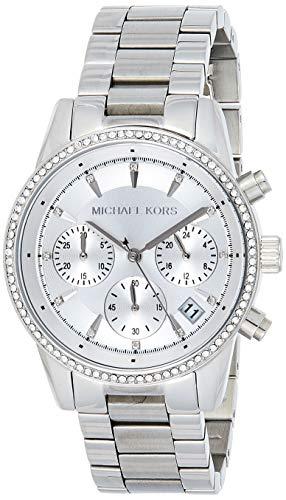 Michael Kors Orologio Cronografo Quarzo Donna con Cinturino in Acciaio Inox MK6428