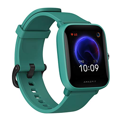 Amazfit Bip U Smart Watch, 1.43' HD Color Display, SpO2 & Stress Monitor, 60+ Sports Modes, Breathing Training, 50+ Watch Faces (Green)