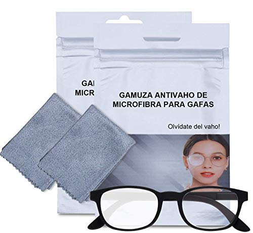 2 Toallitas antivaho gafas, gamuza antivaho gafas, gamuza reutilizable...