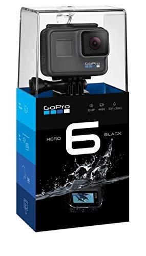 GoPro HERO6 Videocamera di azione (4K, 12 MP, robusta e sommergibile fino a 10 m senza custodia, touchscreen da 2 '), Nero