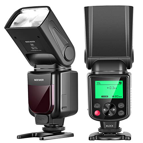 Neewer NW-670 TTL Flash Speedlite with LCD Display for Canon 7D Mark II, 5D Mark II III, IV,1300D, 1200D, 1100D, 750D, 700D, 650D, 600D, 550D, 500D, 100D, 80D, 70D, 60D and Other Canon DSLR Cameras