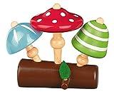 Moses. 16121 Krabbelkäfer Pilz-Kreisel-Set   3 Bunte Kinderkreisel aus Holz   Für Kinder ab 3 Jahren