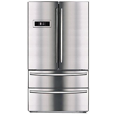 SMETA Upright Counter Depth Refrigerator 36'' French Door...