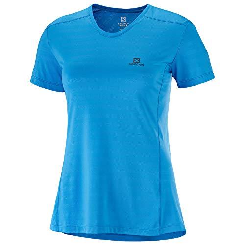Salomon Women's Short Sleeved Sport T-Shirt, XA TEE, Polyester/Elastane, Size: XS, Blithe, LC1027700