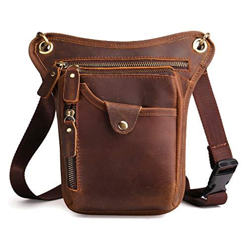 ホルスターバッグ メンズ 本革 3way レッグポーチ レザー ウエストバッグ 牛革 ウエストポーチカジュアル ハンドメイド レッグバッグ 携帯、財布収納 アウトドア