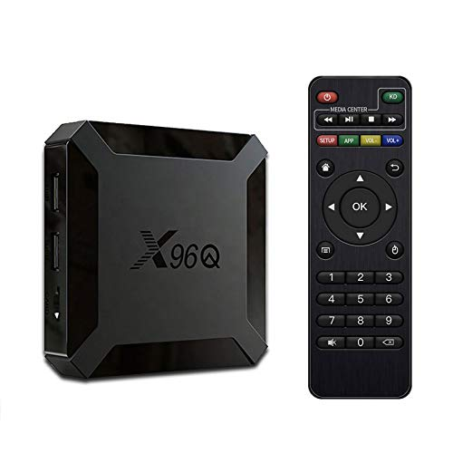 SUNNZO Android 10.0 TV Box X96Q TV Box H616 Quad Core 2 Go de RAM 16 Go de Rom 4K WiFi 2.4Ghz + 100M LAN H.265 Mini Smart TV Box Lecteur Multimédia