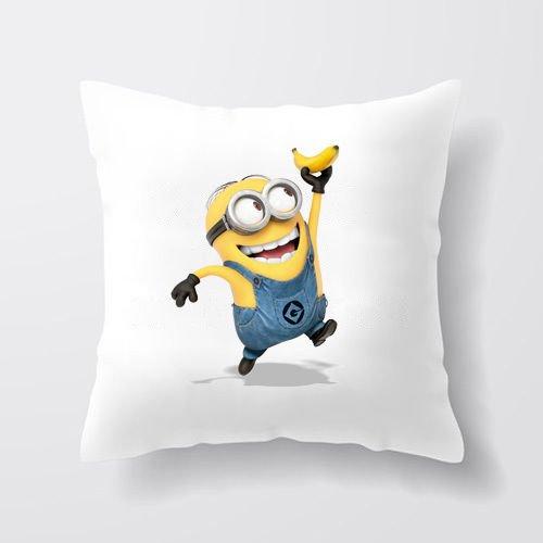 damuyas Minion Funda de almohada personalizado Despicable Me funda de cojín personalizado cualquier nombre de regalo