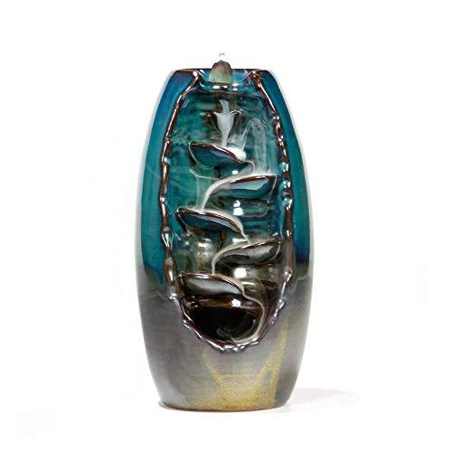 BTHER Kreative Keramik Wasserfall Rückfluss Weihrauch Brenner- Räucherhalter für Home Decor Aromatherapie Ornament