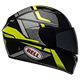 Bell Qualifier Full-Face Motorcycle Helmet (Flare Gloss Black/Hi-Viz Yellow, X-Large)
