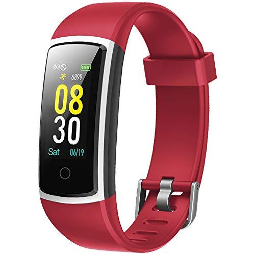 YAMAY Smartwatch Orologio Fitness Tracker Uomo Donna Pressione Sanguigna Smart Watch Cardiofrequenzimetro da Polso Contapassi Smartband Sportivo Activity Tracker per Android iOS