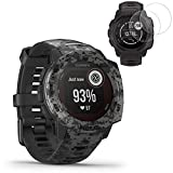 Garmin Instinct Solar GPS Smartwatch Camo Edition(010-02293-15) w/ 2X Screen Protectors